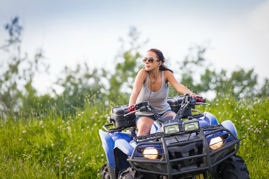 Jennifer Tackles a Boulder Field on the ATV