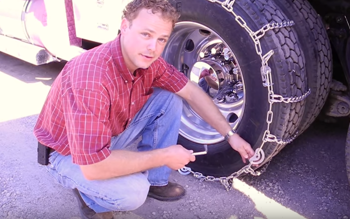 Our tire chain expert, Mike, shows you how to use cam lock tire chains.