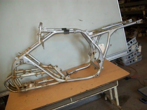 ATV disassembled frame