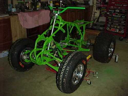 tires on atv frame repainted