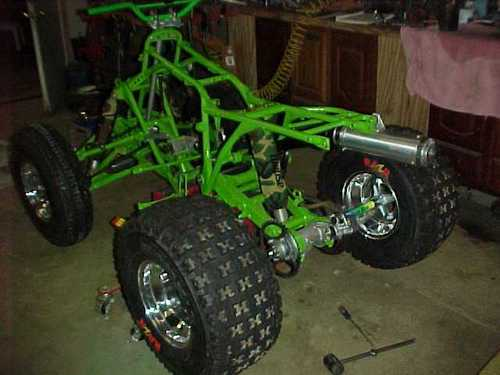 maxxis razr atv tires on repainted frame
