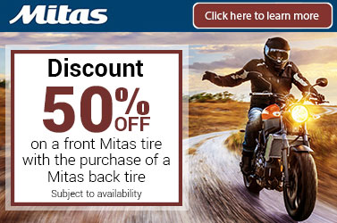 Mitas 50% Off Front Tire