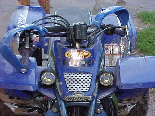 front view of atv handles